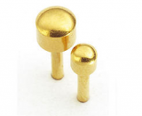 CAFLON BLU BALL SMALL GOLD PLATTED 12 PAIRS
