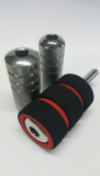 SOFT COVER GRIP for 21MM 20 PCS BOX (BLACK WITH RED)