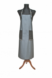 APRON UNISEX LONG  silver + black