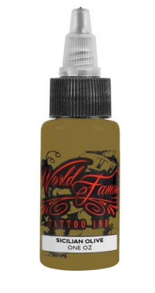SICILIAN OLIVE 30ML WORLD FAMOUS TATTOO INK
