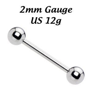 BARBELL 2 mm x 16 mm