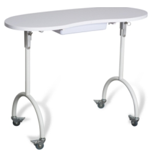 TABLE white with WHEELS