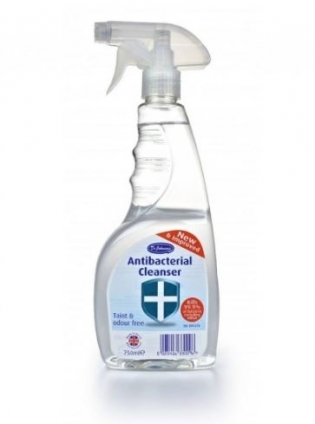 DR JOHNSON SPRAY ANTIBACTERIAL 750ML surfaces