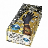 GLOVES Latex Black Midnight Box 100PCS