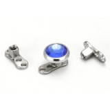 DERMAL ANCHOR COMPLETE base + stone 5mm