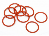 O RINGS. RED 5 PCS BAG