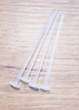 BIOPLASTIC LABRET LONG 1.6X47MM TRANSPARENT 4PCS