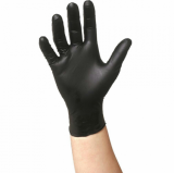 GLOVES NITRILE BLACK MEDIUM 100 pcs box