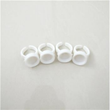 CAP RING 1 HOLE WHITE SHORT 10PCS