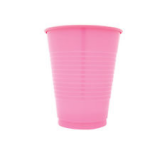 PLASTIC CUPS pink color 100PCS PACK