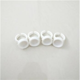 CAP RING 1 HOLE WHITE SHORT 100PCS