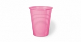 PLASTIC CUPS Burgundy or Pink 100pcs Pack